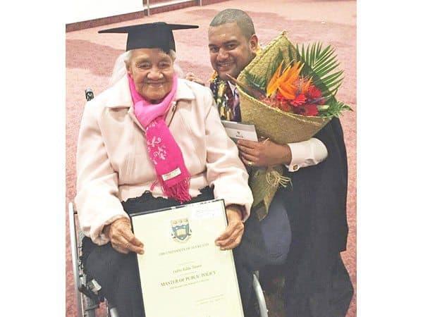 Faamanuiaina Eddie Tuiavii i le Master of Public Policy