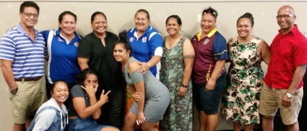 Uluai peresetene LH Geoge Tupuola ma Ranandy Stanley ma le komiti fou ina ua mae'a le filifiliga o tofi ale QLD Samoa Netball Inc 2017 - Photo: Ranandy Stanley