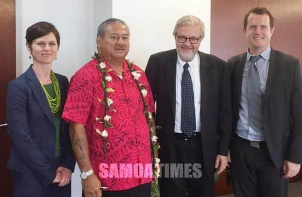 Palemia le tumau a Samoa, Papalii Niko Lee Hang, ma le auusufono mai Denmark