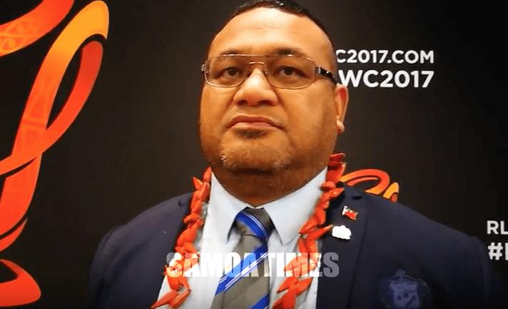 Rugby League Samoa PRESIDENT Tagaloa Faafouina Su'a RLWC