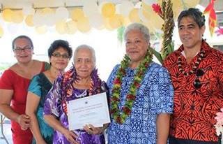 Ole faletua o Marie Margret Ripley ua malolo litaea ile tuanai ole 64 tausaga o galue ma tautua ile Malo o Samoa