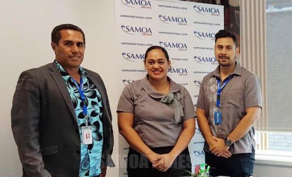 Susga ile alii pule ia Mailo Tautiaga, Heseti Tolai, ma Dwayne Bentley aufaigaluega ale Samoa Airways
