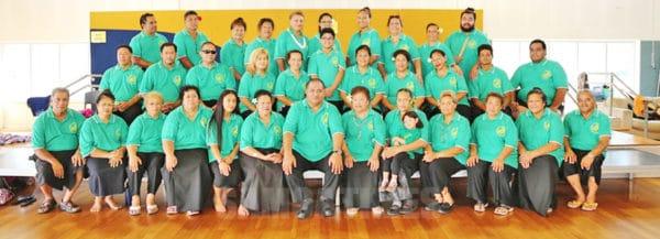 'Aufaipese Faapitoa' (special choir) Mafutaga Samoa 'Feiloaimauso', ogatotonu laina i luma Ta'ita'i Malaga Sitagata Atonio Tominiko