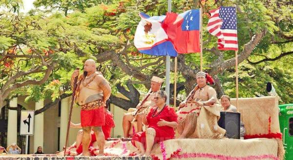 O taavale teuteuina i aso ole fu'a a Amerika Samoa, e lelea faatasi ai lava fu'a a Samoa, Amerika Samoa ma le malo tele