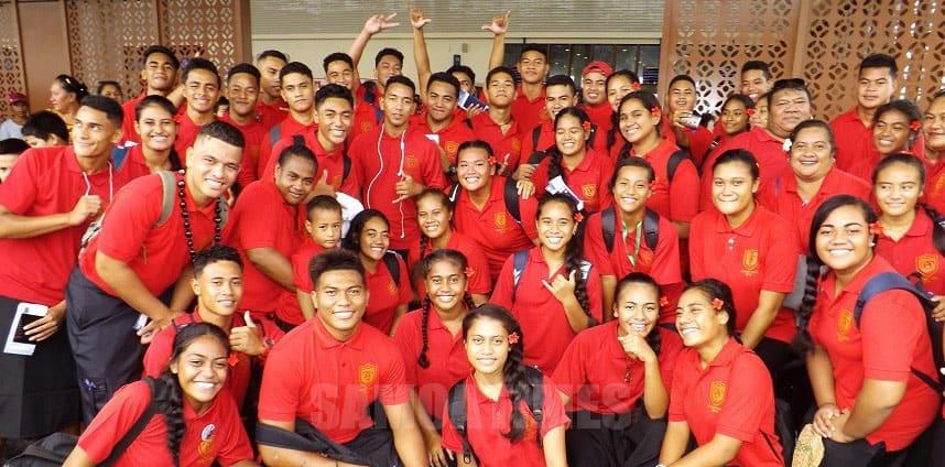 Masi'i i fafo au lakapi ma le au netipolo  a le Kolisi o Samoa