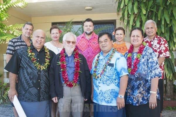 O le alii o Benjamin Berger i le ogatotonu, Rev Nuuausala ma nisi sa lagolagoina lona malaga mai i Samoa