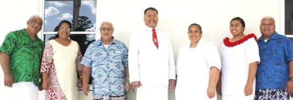 Susuga Rev Elder Tauaaga ma le faletua Senerita Mataafa ma le au usufono a le Matagaluega EFKS Kuiniselani i Saute ua tuuvaa atu nisi i le fonotele i Malua