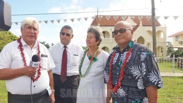 Nisi o alo o le Pule aoga Samoa muamua i Piula, Susuga Le Tagaloa Pita ma ona tei, John Alailima ma le afioga a Leiataua Kilali Alailima, i le asofanau 150 tausaga o Piula