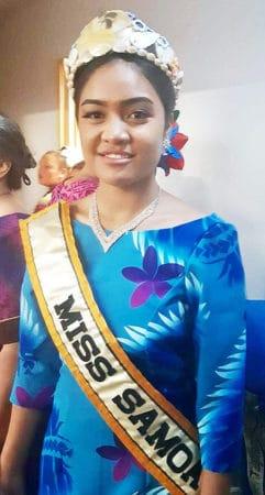 Miss Samoa Australia ua fai ma sui o Kuiniselani mo le tauvaga tele i Samoa Erin Noelani Taefu