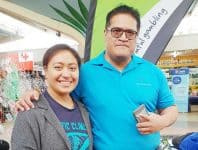 Tamaitai ia Pese Iuli mai le Auckland University ma le susuga ia Papalii Fuiavailili Alailima