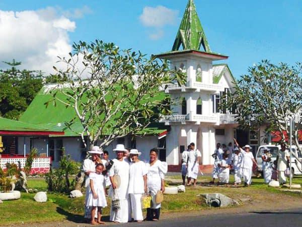 O vaaiga masani pe a mae'a sauniga o le Aso Sa i Samoa
