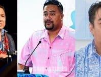 (L-R) Namulauulu Sami Leota Peresetene Fou Iuni Lakapi a Samoa, Faleomavaega Vincent Fepulea Ofisa Sili o le Iuni Lakapi a Samoa, Seumanu Douglas Ngau Chun Sui o le Komiti Faafoe Iuni Lakapi a Samoa