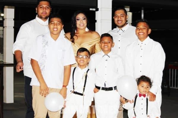 Matalena Kathy, brothers, Joseph ma Tresh faapea nephews