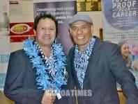 Afioga i le Peresetene Auckland Samoa ia Tapuai Siaosi ma le failautusi ia Moe Mataafa