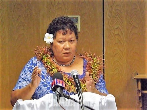 O le Pule Sili o le Matagaluega o  A'oga Taaloga ma Aganuu, afioga Afamasaga Dr Karoline Fuata'i