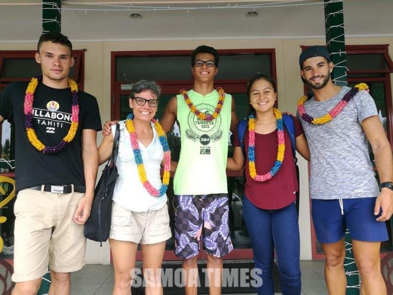 Au Triathlon a Tahiti i le Elisa Hotel i Mulinuu, na asiasi atu i Samoa i le masina o Tesema e tapena ai mo le Pacific Games