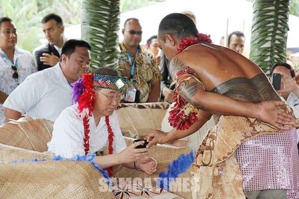 O Ban Ki-moon mai Korea, o le failautusi lona valu a le UN, na faaee iai e le afioaga o le alii palemia le suafa matai