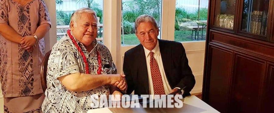 Faamalieina le malo o Niu Sila i le auai mai o le Palemia o Samoa i le Waitangi