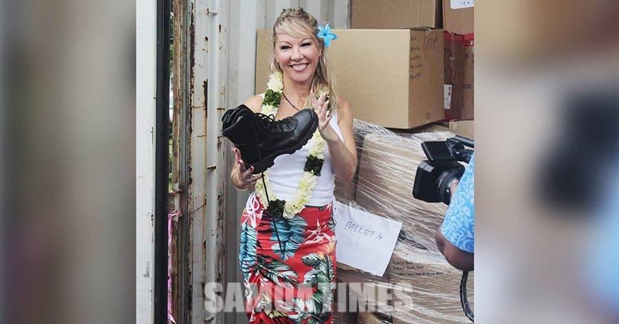 Tetee Mirkana e leai ni boots masaesae  na ia aumaia i Samoa