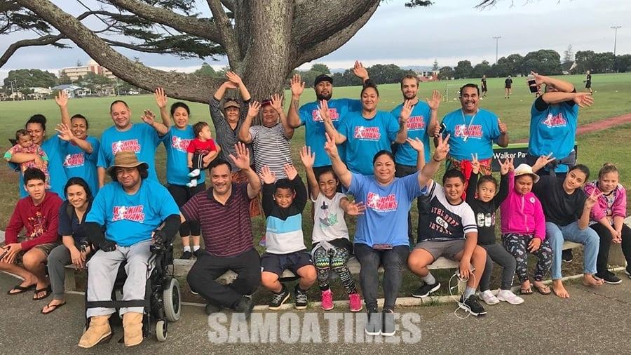 Toe faaolaola le Walking Samoans i Auckland Central