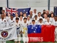 Pipii pea le loto o Master Faalavelave Frank i Samoa  e atia'e le Taekwondo