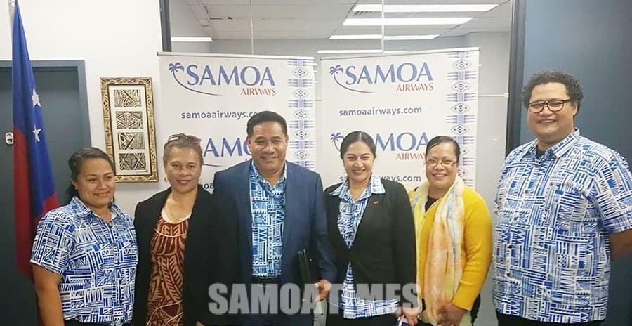 Feiloai le Pulega a le Samoa Airways ma taitai o le Atunuu i Sini