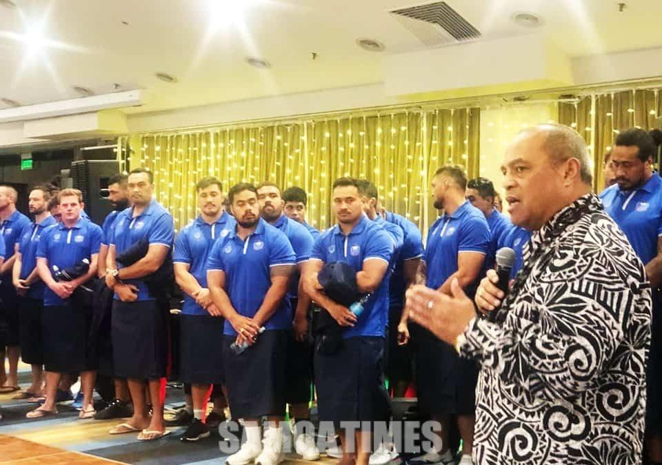 Tumau le lagolago a Samoa  i lana Manu Samoa