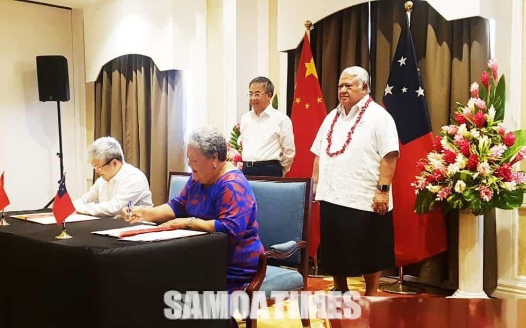 Faafeiloai e Samoa le Sui Palemia  o Saina i lana aganuu