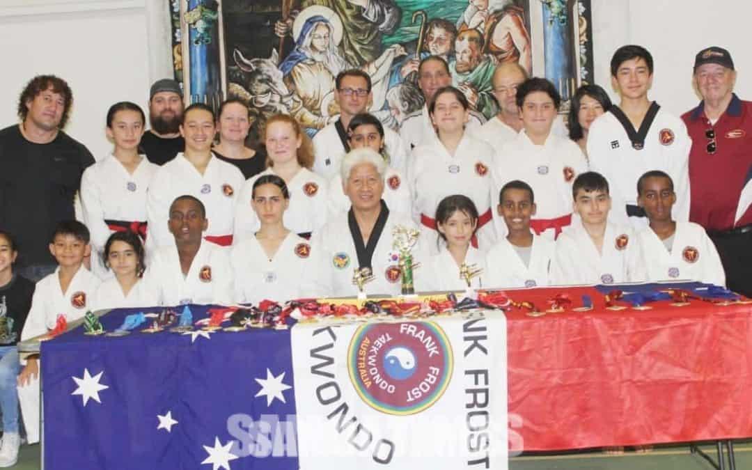 Faamanuiaina uma tamaiti i suega fusi faaiu a le FrankFrost Taekwondo i Ausetalia