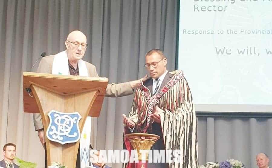 Faafeiloaiga o le uluai Pulea'oga Samoa i A'oga Katoliko i Ueligitone