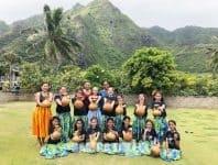 Taulia le tautigā o le ausiva a le Nuholani Keiki Dancers